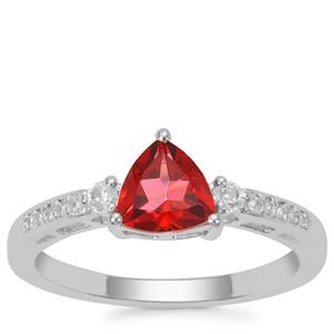 Cruzeiro Topaz Ring with White Zircon in Sterling Silver 1.07cts