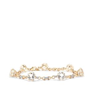Wobito Snowflake Cut Cullinan Bracelet with White Topaz in 10K Gold 19.92cts