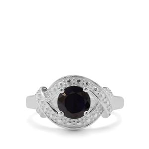 Madagascan Blue Sapphire Ring in Sterling Silver 1.73cts