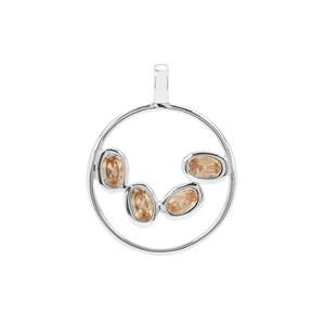 Imperial Garnet Pendant in Sterling Silver 1.24cts
