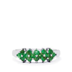 Luhlaza Emerald Ring in Sterling Silver 0.55ct