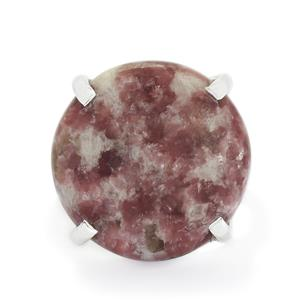 23.46ct Lepidolite Sterling Silver Aryonna Ring