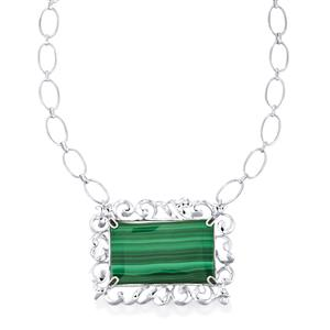 82ct Malachite Sterling Silver Aryonna Necklace