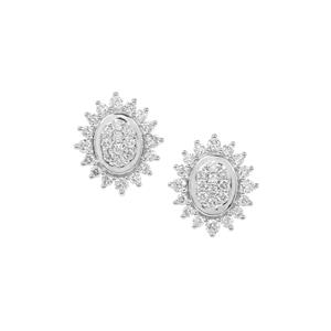 Argyle Diamond Earrings in 9K Gold 1cts