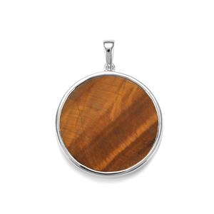 Tiger's Eye Pendant in Sterling Silver 22.90cts