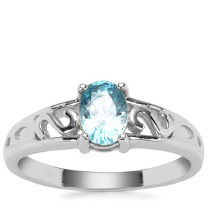 Ratanakiri Blue Zircon Ring in Sterling Silver 1.32cts