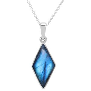 Paul Island Labradorite Necklace in Sterling Silver 7.60cts