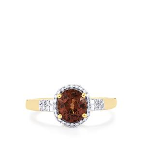 Bekily Colour Change Garnet & Diamond 18K Gold Tomas Rae Ring MTGW 1.91cts