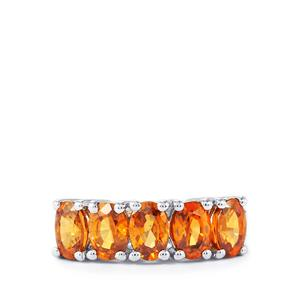 Cognac Zircon Ring  in Sterling Silver 3.72cts