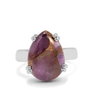 8ct Copper Mojave Amethyst Sterling Silver Aryonna Ring