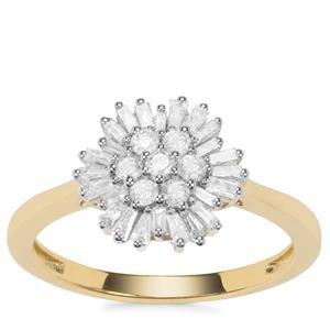 'The Christmas Snowflake' Diamond Ring in 9K Gold 0.50ct