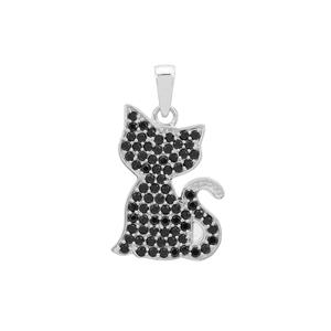 1.25ct Black Spinel Sterling Silver Mau Pendant