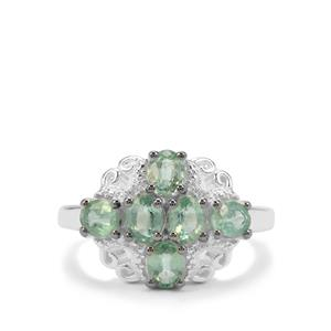Odisha Kyanite & White Zircon Sterling Silver Ring ATGW 2.45cts
