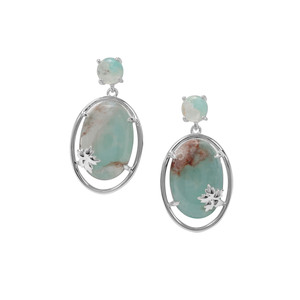 Aquaprase™ Earrings in Sterling Silver 17.42cts