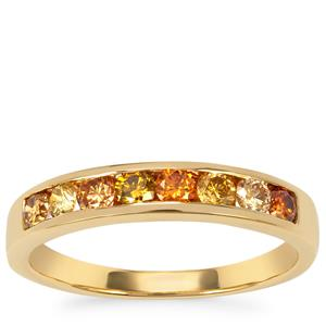 Natural Coloured Diamond Ring in 18K Gold 0.57ct
