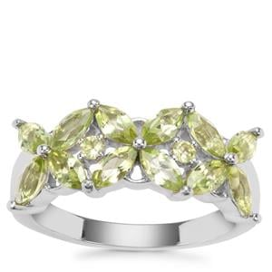 Changbai Peridot Ring in Sterling Silver 2cts