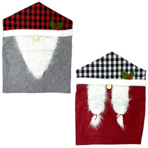Christmas Nordic Gonk Decorative Chair Cover in Grey (G1) or Red (R1)