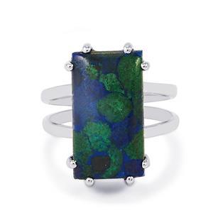 11.68ct Azure Malachite Sterling Silver Ring