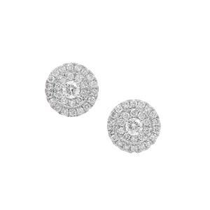1/2ct Diamond 18K Gold Earrings