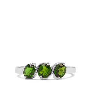 1.16ct Chrome Diopside Sterling Silver Ring