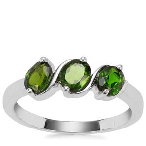 Chrome Diopside Ring in Sterling Silver 1.16cts
