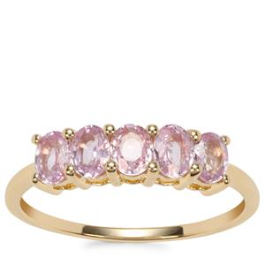 Sakaraha Pink Sapphire Ring in 9K Gold 1cts