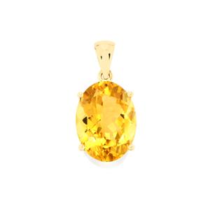 Rio Golden Citrine Pendant in 9K Gold 8.24cts