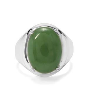 9.32ct Genuine Jade Sterling Silver Ring