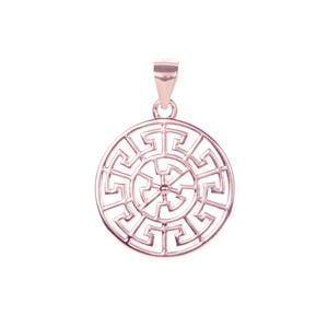 Pendant in Rose Gold Tone Sterling Silver