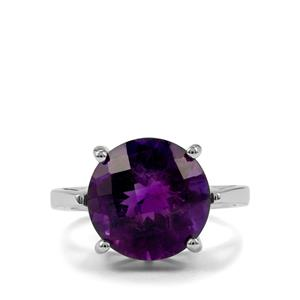7.55ct Zambian Amethyst Sterling Silver Ring
