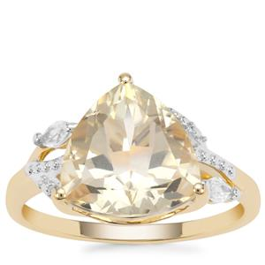 Serenite Ring with White Zircon in 9K Gold 4.13cts