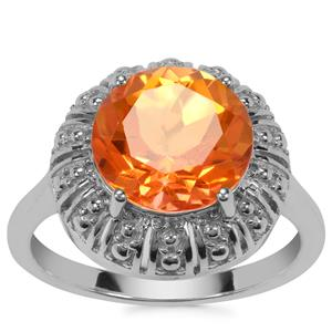 Padparadscha Colour Quartz Ring in Sterling Silver 3.63cts