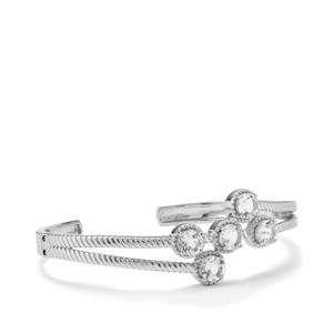 Alto Ligonha Morganite Cuff in Sterling Silver 3.50ct