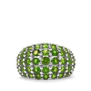 4.19ct Chrome Diopside Sterling Silver Ring