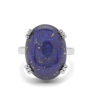 Sar-i-Sang Lapis Lazuli Ring in Sterling Silver 15.50cts