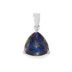 Mystic Blue Topaz Pendant in Sterling Silver 8.83cts