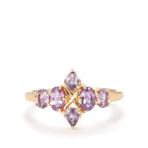 Natural Purple Sapphire Ring in 10k Gold 1.26cts