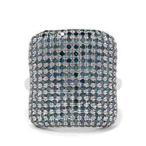 1.95ct Blue Diamond Sterling Silver Ring