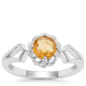 Burmese Amber Ring in Sterling Silver 0.31ct