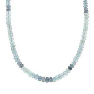 Mocuba Aquamarine Necklace in Sterling Silver 43cts