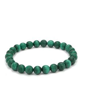100ct Malachite Stretchable Bracelet
