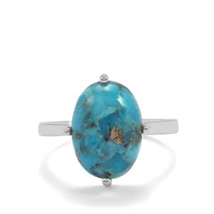 Bonita Blue Turquoise Ring in Sterling Silver 5.42cts