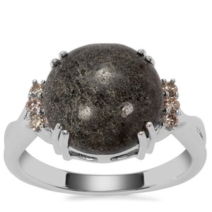 Lamproite Ring with Argyle Diamond in Sterling Silver 5cts