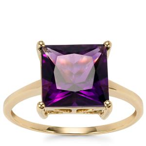 Moroccan Amethyst Ring in 10k Gold 3.23cts