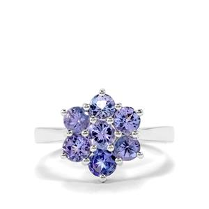 AA Tanzanite Ring in Sterling Silver 1.82cts