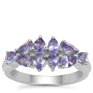 Tanzanite Ring in Sterling Silver 1.45cts