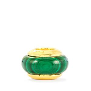 13.07ct Malachite Vermeil Wheel Kama Charm