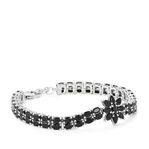 Black Spinel Bracelet in Sterling Silver 21.45cts