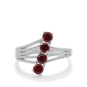Rajasthan Garnet Ring in Sterling Silver 1cts