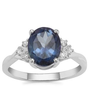 Hope Topaz Ring with White Zircon in Sterling Silver 3.25cts